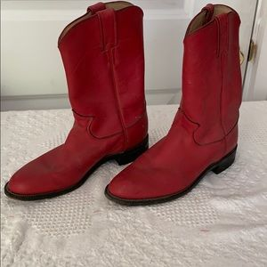 Red Justin Boots size 7